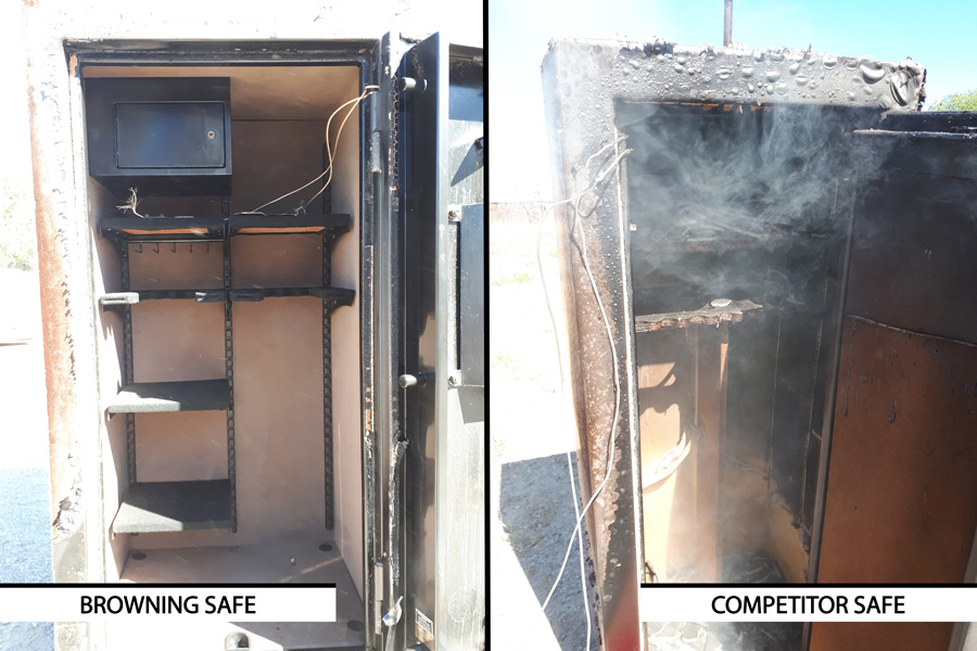 Browning blog: fire protection Browning safe vs competitor