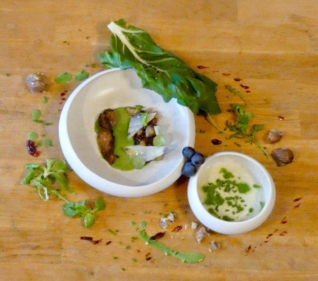 Browning blog: European quail, grapes and chard